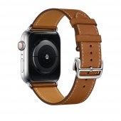 Ремешок для Apple Watch 38/40/42/44mm Hermes Single Tour Deployment Buckle Brown
