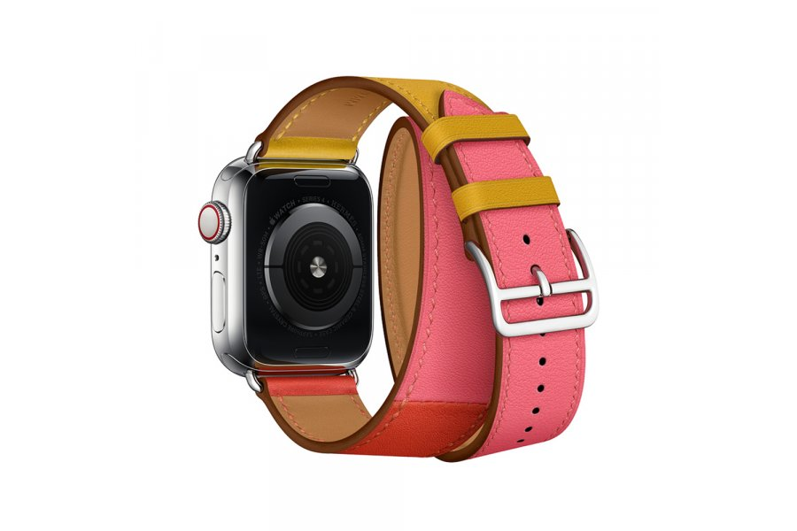 Ремешок для Apple Watch 38/40/42/44mm Hermes Double Tour Ambre/Capucine/Rose Azalée