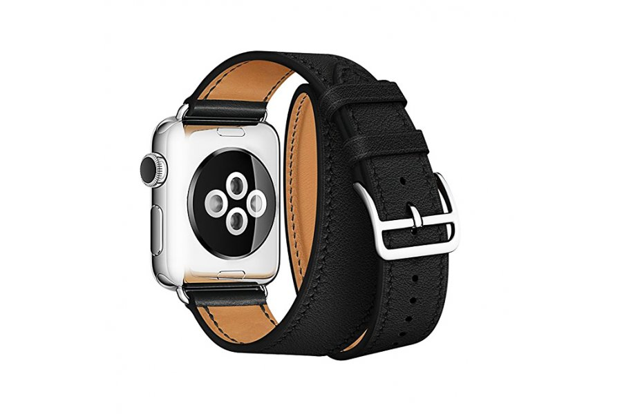 Ремешок для Apple Watch 38/40/42/44mm Hermes Double Tour Black