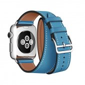 Ремешок для Apple Watch 38/40/42/44mm Hermes Double Tour Light Blue