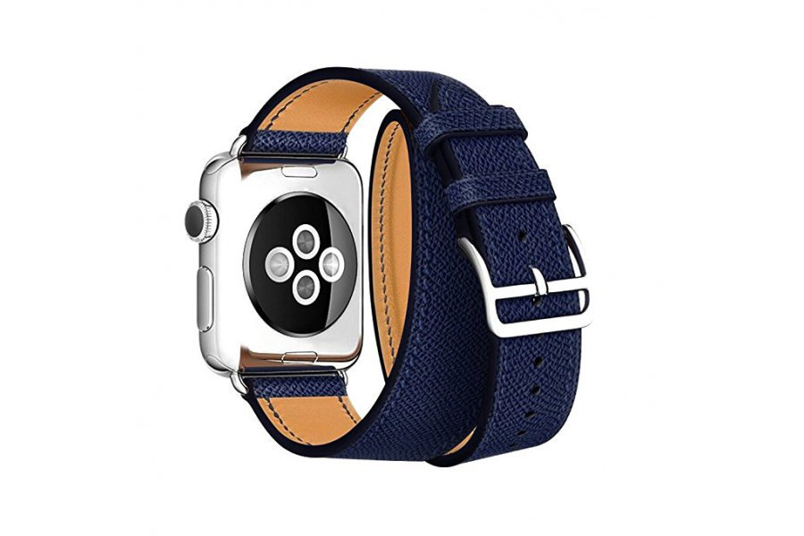 Ремешок для Apple Watch 38/40/42/44mm Hermes Double Tour Midnight Blue