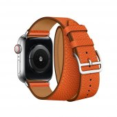 Ремешок для Apple Watch 38/40/42/44mm Hermes Double Tour Orange