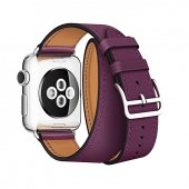 Ремешок для Apple Watch 38/40/42/44mm Hermes Double Tour Purple