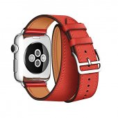 Ремешок для Apple Watch 38/40/42/44mm Hermes Double Tour Red