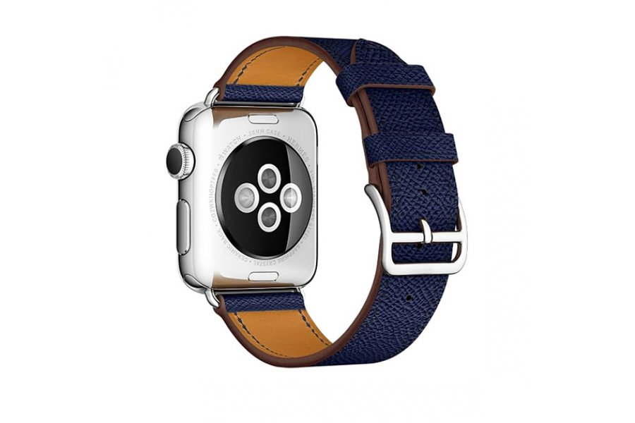 Ремешок для Apple Watch 38/40/42/44mm Hermes Single Tour Midnight Blue