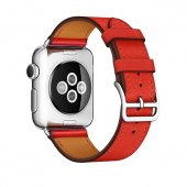 Ремешок для Apple Watch 38/40/42/44mm Hermes Single Tour Red