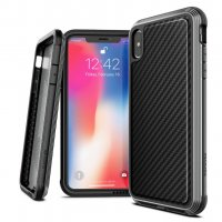 Чехол для iPhone XS Max Black Carbon Case Defense Lux