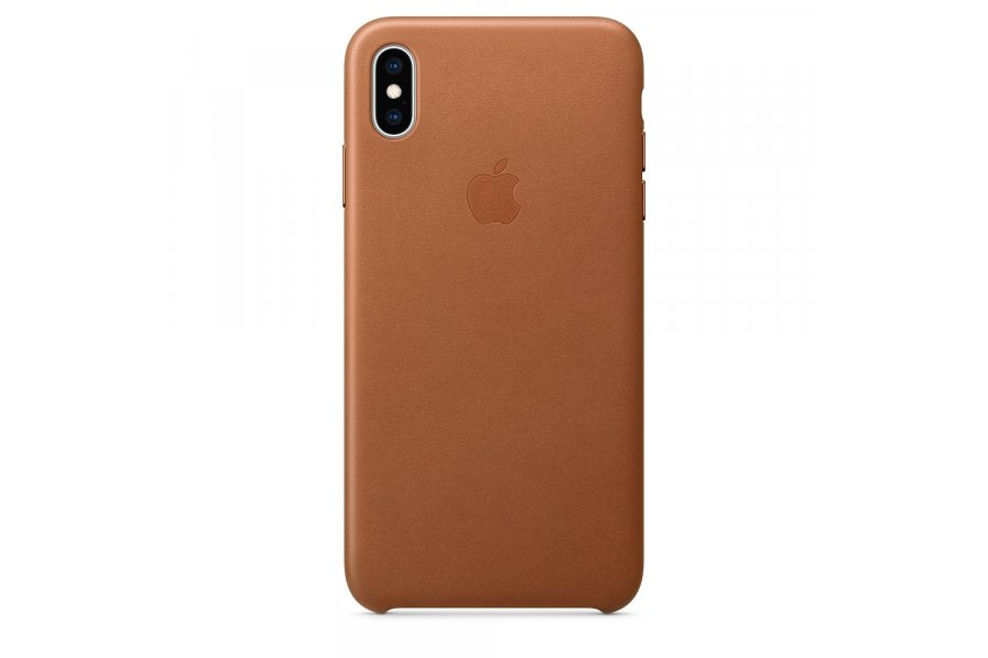 Кожаный чехол Apple Leather Case для iPhone XS Max Brown