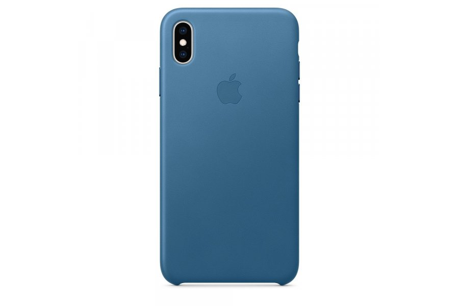 Кожаный чехол Apple Leather Case для iPhone XS Max Cod Blue