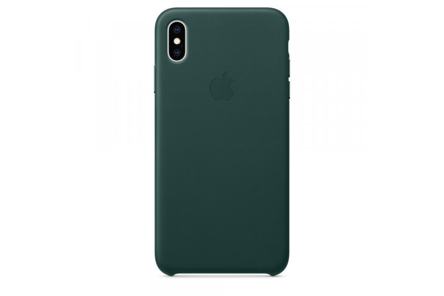Кожаный чехол Apple Leather Case для iPhone XS Max Green