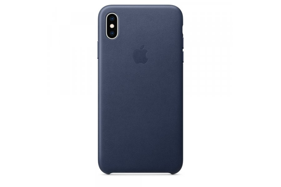 Кожаный чехол Apple Leather Case для iPhone XS Max Midnight Blue