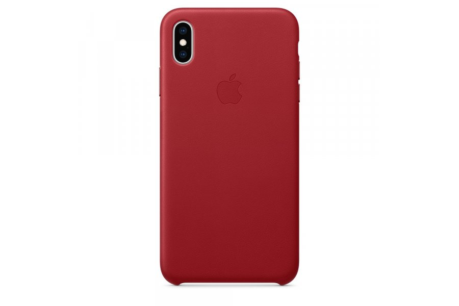 Кожаный чехол Apple Leather Case для iPhone XS Max Red
