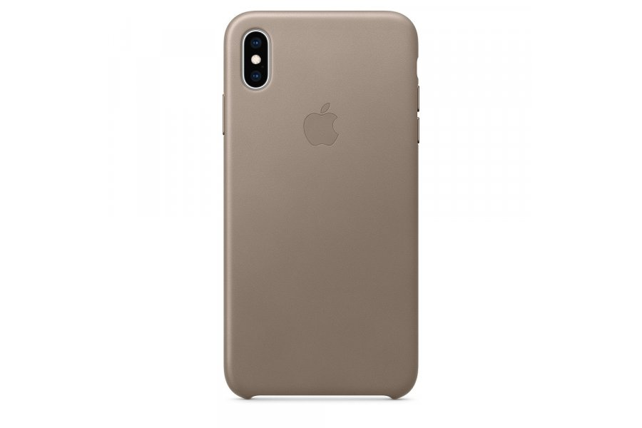 Кожаный чехол Apple Leather Case для iPhone XS Max Taupe