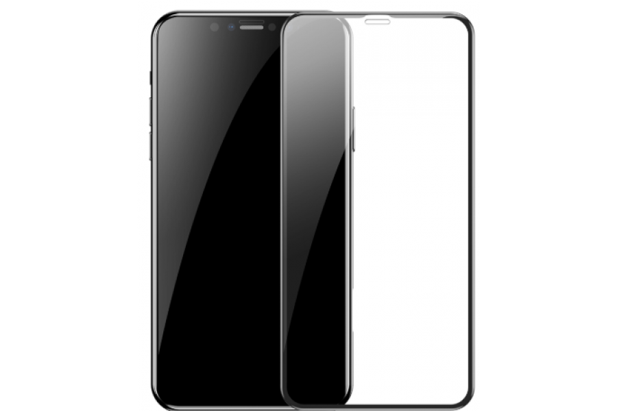 Защитное стекло 3D Full Baseus Tempered Glass Black для iPhone XR