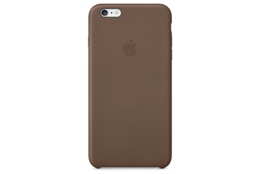 Кожаный чехол Apple Leather Case для iPhone 6/6s Plus Brown