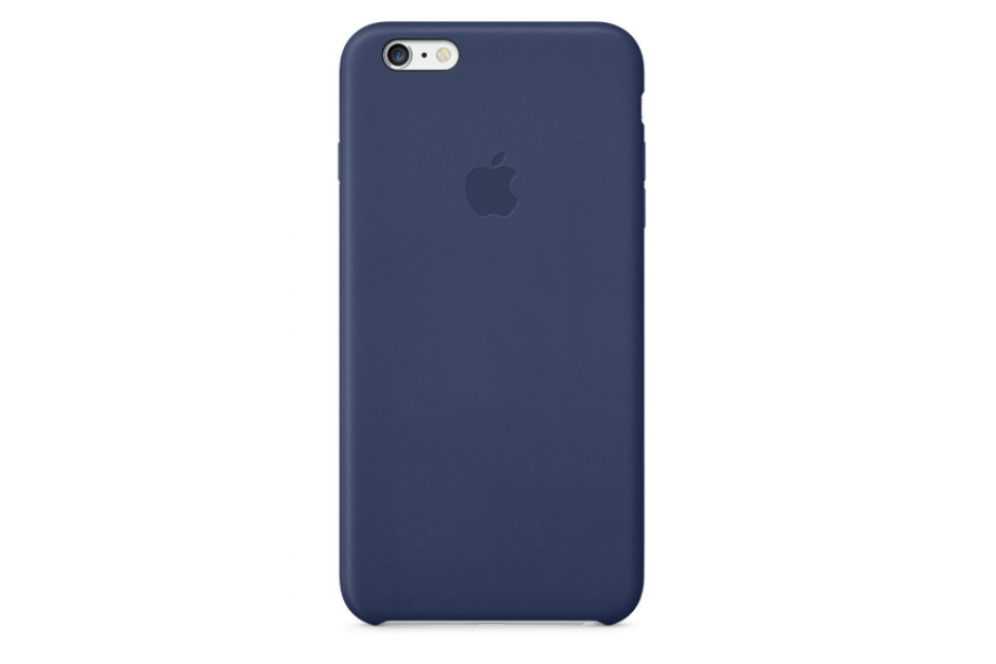 Кожаный чехол Apple Leather Case для iPhone 6/6s Plus Midnight Blue