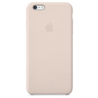 Кожаный чехол Apple Leather Case для iPhone 6/6s Soft Pink