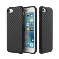 Карбоновый чехол ROCK Origin Series (Textured) для iPhone 7/8 Black