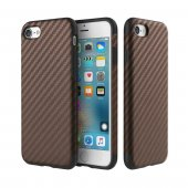 Карбоновый чехол ROCK Origin Series (Textured) для iPhone 7/8 Brown