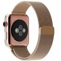 Ремешок для Apple Watch 42/44mm with Milanese Loop (magnetic) Gold