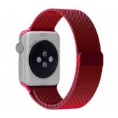 Ремешок для Apple Watch 42/44mm with Milanese Loop (magnetic) Red