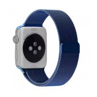 Ремешок для Apple Watch 42/44mm with Milanese Loop (magnetic) Blue