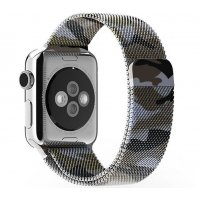Ремешок для Apple Watch 42/44mm with Milanese Loop (magnetic) Camouflage