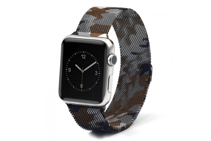 Ремешок для Apple Watch 38/40mm with Milanese Loop (magnetic) Camouflage