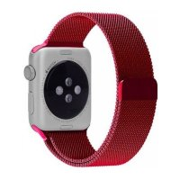 Ремешок для Apple Watch 38/40mm with Milanese Loop (magnetic) Red