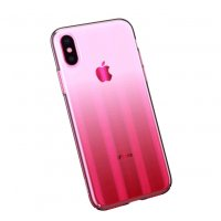 Чехол Baseus Aurora Series Transparent Pink для iPhone X/XS