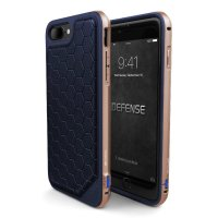 Чехол X-Doria Defense Lux для iPhone 7/8 Plus Blue-Gold