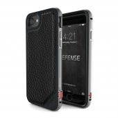 Чехол X-Doria Defense Lux для iPhone 7/8 Black Leather