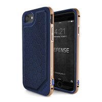 Чехол X-Doria Defense Lux для iPhone 7/8 Blue-Gold