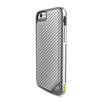 Чехол X-Doria Defense Lux Leather для iPhone 6/6s Silver Carbon