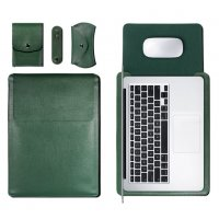 Чехол 4в1 для Macbook Air/Pro 13 / Pro 15 Green