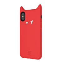 Чехол силиконовый Baseus devil baby case для iPhone X/Xs Orange