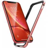 Бампер Silicone-Aluminium для iPhone XR Rose