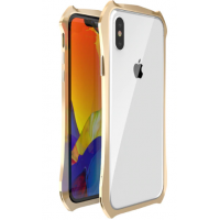 Бампер Luphie для iPhone Xs Max Gold