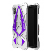 Чехол Roadster aluminum metal для iPhone X/Xs Purple Silver