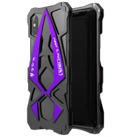 Чехол Roadster aluminum metal для iPhone X/Xs Purple