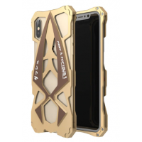 Чехол Roadster aluminum metal для iPhone Xs Max Gold