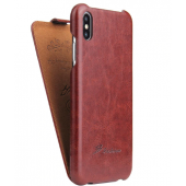 Чехол Флип для iPhone X/Xs Brown