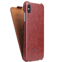 Чехол Флип для iPhone Xs Max Brown