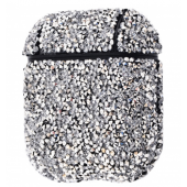 Чехол Bling World Case Grainy Diamonds для Apple AirPods Black Silver
