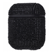 Чехол Bling World Case Сircle Diamonds для Apple AirPods Black