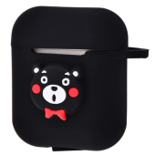 Чехол Colourful Case with Logo для Apple AirPods Black Bear