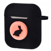 Чехол Colourful Case with Logo для Apple AirPods Black Rabbit