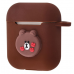 Чехол Colourful Case with Logo для Apple AirPods Brown Bear