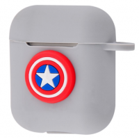 Чехол Colourful Case with Logo для Apple AirPods Captain America