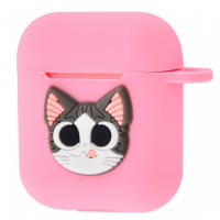 Чехол Colourful Case with Logo для Apple AirPods Cat Ti